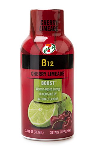 7 Select Vitamin B12 Natural Energy Shots  Cherry Limeade  2 Oz  8 Pack Box