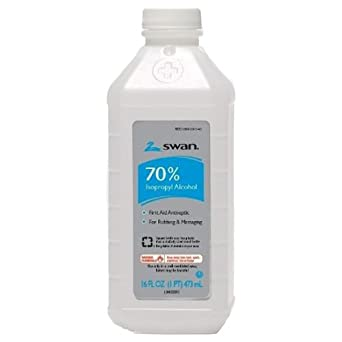 Swan by First Aid Only 12-600 First Aid Antiseptic 70% Isopropyl Alcohol, 16 Ounces
