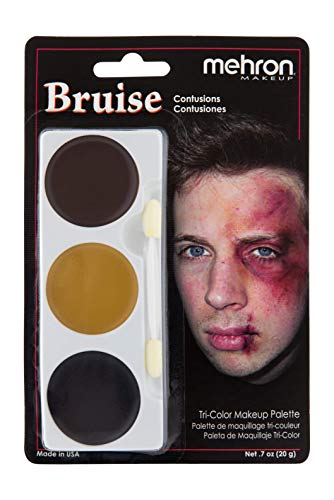 Halloween Makeup Bruises (Mehron Makeup Tri-Color Halloween Makeup Palette)