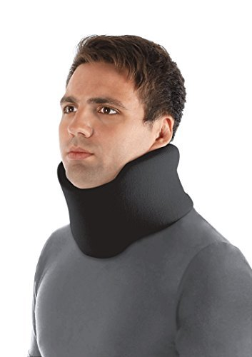 TOROS-GROUP Ergonomic Cervical Collar/Neck Support Brace / 100% - Cotton Liner - Neck 4½'' Black