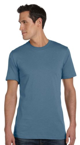 Bella + Canvas Unisex Jersey Short-Sleeve T-Shirt, XL, STEEL BLUE