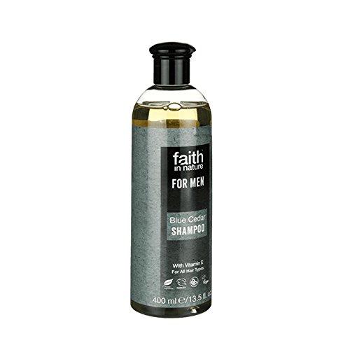 現実センサーパニックFaith in Nature for Men Blue Cedar Shampoo 400ml (Pack of 6) - 男性青杉のシャンプー400ミリリットルのための自然の中で信仰 (x6) [並行輸入品]