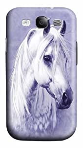 Samsung Galaxy I9300 Case,Moon Shadow Horse Polycarbonate Hard Case Back Cover for Samsung Galaxy S3/I9300 3D by Maris's Diary