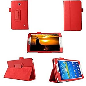 GX Tableta Samsung - Carcasas de Cuerpo Completo/Contra Golpes/Fundas con Soporte - Color Sólido/Nombre de Estilo Marca - para Samsung Tab 4 7.0 T230 ( , Red