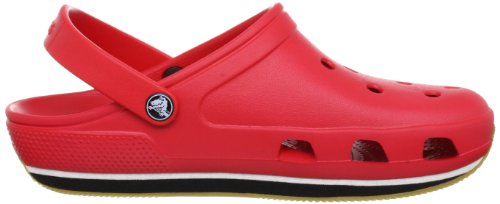 Retro Zuecos red Crocs Clog black Zapatillas Unisex Rojo Zwx4Aq