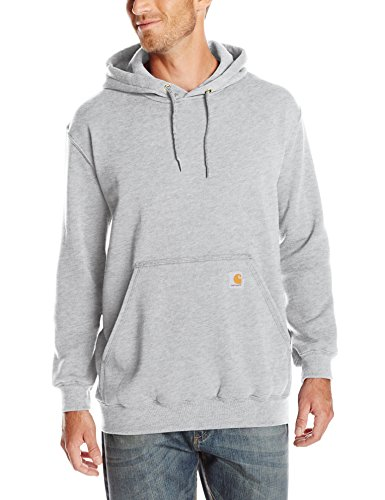 ight Sweatshirt Hooded Pullover Original Fit K121,Heather Gray,Large ()
