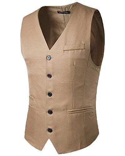 En Encolure V Homme À Veste Fit Slim Retro Hommes Tuxedo Pour Costume Kaki Gilet Blazer tUqS1Yw