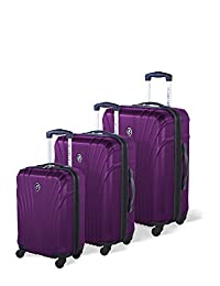 Atlantic Beaumont Hardside 3 Piece Spinner Luggage Set, Mauve