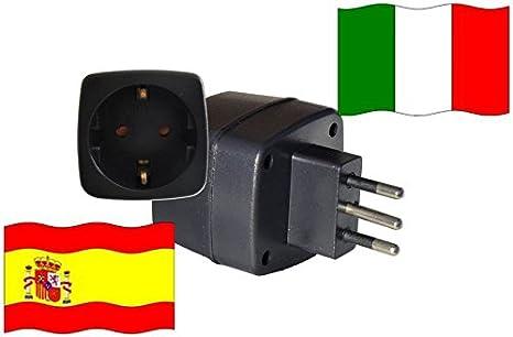 Adaptador de viaje Italia- España it – Es Travel Plug italia ...