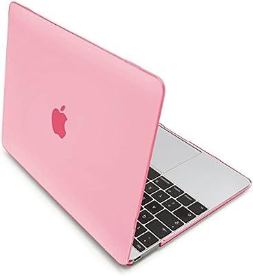 MyGadget Funda Dura Apple Macbook 12 Pulgadas Retina Modelo A1534 de Finales de 2015 - Cubierta para Mac Tipo Case Transparente Ultra Delgado Hard - Rosa