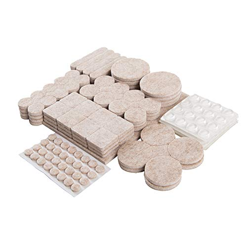 Non Slip Furniture Pads,217 Pcs Furniture Grippers Self Adhesive Rubber Pads,Non Skid Beige Furniture Pad for Hardwood Floor Chair Legs Feet Protectors
