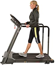 Sunny Health & Fitness SF-T7857 Walking Treadmill with Low Profile Deck and Multi-Grip Handrails for Mobil