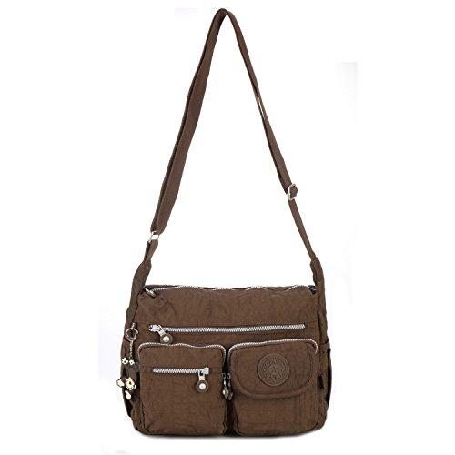 Messenger Brown Sport Tablet Bookbag Shoulder Women Bag Pack Casual Body Fashion For Side Cross Foino Crossbody Travel qHAwaXxABz
