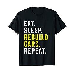 Mens Automobile Restoration Car Tuning for Garage Car Mechanic T-Shirt