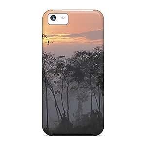 PqO2913ilzT Wade-cases Dawn In A Peru Jungle Durable Case For Iphone 5C Cover PC Flexible Soft Case