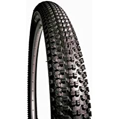 """Tomac Signature Series excellent hard pack tire          Eight small Nevegal-shaped knobs across the tire for better bite          Dual Tread Compound (DTC) with 60 tpi casing          model: 24""""         width: 2.1""""         co..."""