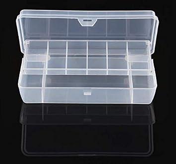 Milepet - Juego de 2 señuelos de Pesca, Caja de señuelos, 15 Compartimentos, plástico, Transparente, para Guardar Accesorios: Amazon.es: Deportes y aire libre