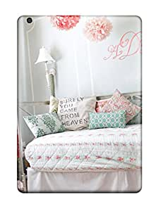 New Style Ideal Case Cover For Ipad Air(girls Pink And Blue Cottage Bedroom With Monogram On Wall), Protective Stylish Case 7317751K40775305