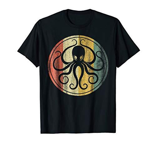 Retro, Vintage Sea Monster Octopus, Kraken & Cthulhu Shirt]()