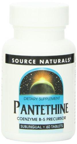 Pantethine 60 Tabs (Source Naturals Pantethine Co B-5, 25mg, 60 Tablets)