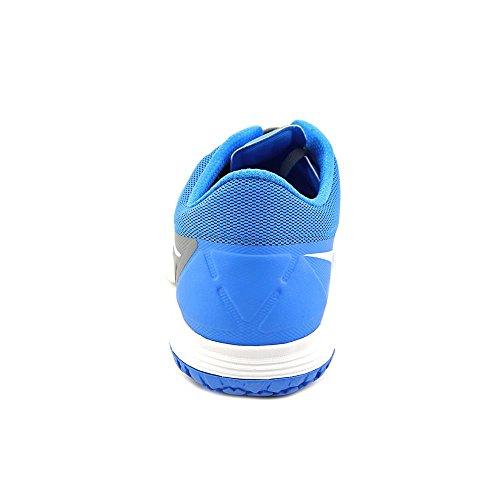 Nike Fs Lite Trainer Ii Uomo Punta Tonda Sintetica Blu Scarpa Da Corsa Cool Grigio / Foto Blu / Bianco