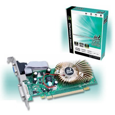 Inno3D 7200 GS 256MB PCI Express Nvidia tarjeta gráfica DDR2 ...