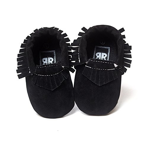 Baby Shoes, Neband Tassel Soft Sole Leather Shoes Baby Boy Girl Infant Toddler Moccasin (0-6 Month, Black) - Black Boys Moccasin