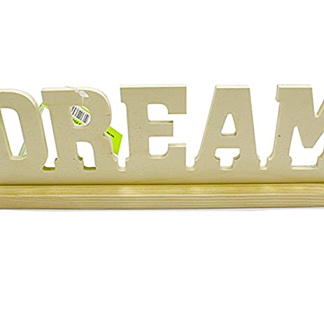amazon com angels craft 12 piece real wood unfinished words dream