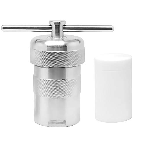 BAOSHISHAN 100ml Hydrothermal Synthesis Autoclave Reactor 6Mpa 240C 304 Stainless Steel High-pressure with PTFE/Teflon Lining Acid and Alkali Resistance (100ML)