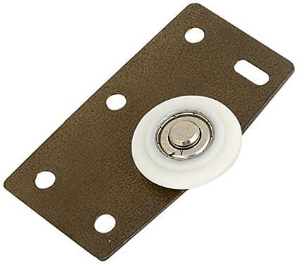eDealMax Rodillos de nylon placa de hierro muebles de deslizamiento de la rueda de la puerta