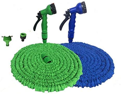 MWPO Garden Water Hose Flexible Hose Extendable Garden Hose Reel Truck Water Connector Blue Green 25-75FT (color : Blue hose set, Lengh : 150ft) Blue Hose Set