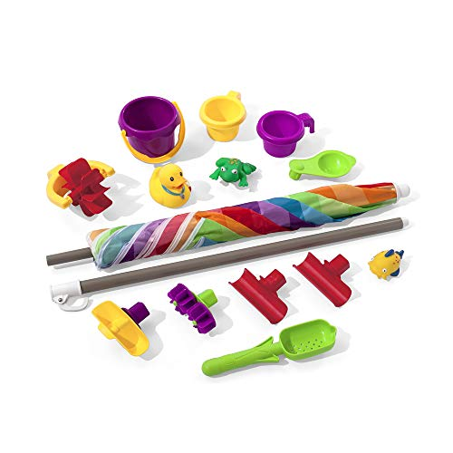 41XcOpC28gL - Step2 Rain Showers Splash Pond Water Table | Kids Water Play Table with 13-Pc Accessory Set