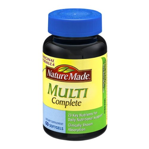 Nature Made Multi-Complete with D3, Iron & Calcium, Liquid Softgels, 60-Count