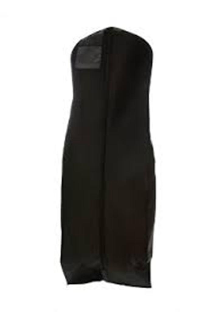 Black Breathable Cloth Wedding Gown Dress Garment Bag (600GBK)