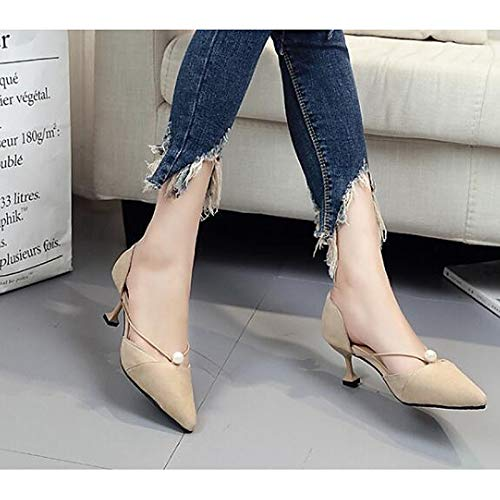 Spring Women's PU Beige Polyurethane Black Beige Heel Stiletto Fall Shoes amp; ZHZNVX Pump Comfort Heels Basic cIBq6gpqaW