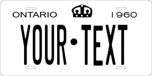 Canada 1960 Personalized Tag Vehicle Car Moped Bike Bicycle Motorcycle Auto License Plate (Ontario Car License Plate)
