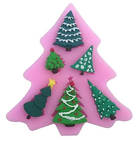 JUNGEN Molde de silicona del 6 Mini Árbol de navidad Molde de pastel para Navidad hornear Decoracion Tartas Pasteles DIY jabón moldes: Amazon.es: Hogar