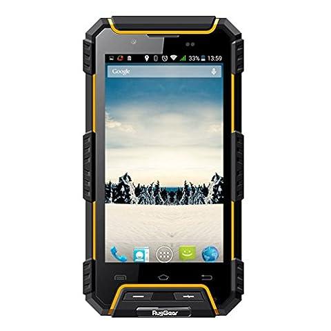 RugGear® RG702 rugged Unlocked waterproof smartphones - RugGear Apex - IP68 Waterproof, dust proof and shock proof GPS Dual SIM Android waterproof smart cell phone (Unlock Dual Sim Phone)