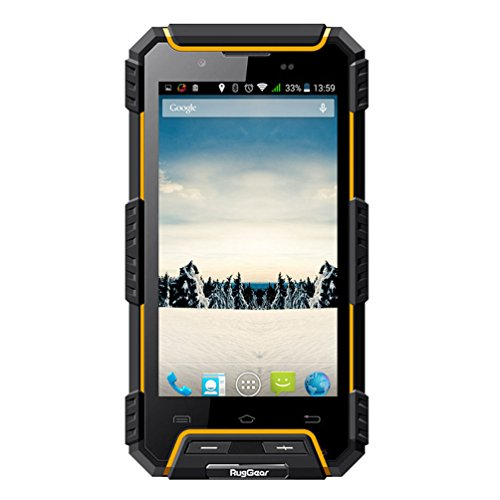 RugGear RG702 rugged cell phone Unlocked IP68 waterproof smartphone (Yellow) (Wifi Cellular Pda Phone Gsm)