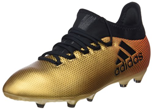 Adidas X 17.1 FG J, Botas de Fútbol Unisex Niños Amarillo (Ormetr/Negbas/Rojsol 000)