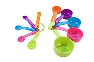 Juego de cucharas y tazas medidoras (10 piezas)