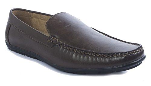Aldo Rossini Mens Steve-1 Chaussures Mocassins À Enfiler Marron