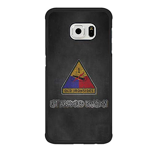 Skinsends United States Army - The Dirty Dorito Case Cover Compatible with Galaxy S6 Edge, 1st Armored Division | Iron Soldier March Hard Plastic Case Cover Compatible with Samsung Galaxy S6 Edge