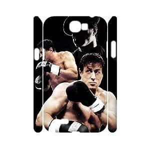 T-TGL(RQ) Custom Rocky Balboa Pattern Protective Phone Case for Samsung Galaxy Note 2 N7100 3D