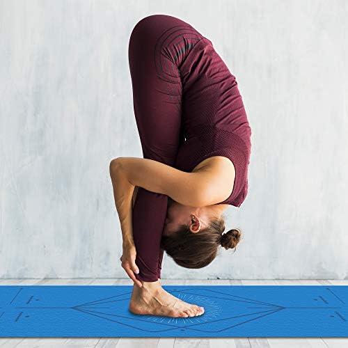 Redlemon Tapete de Yoga, Yoga Mat de 6mm de Grosor, Diseño Bicolor Ultrasuave, Antideslizante, Resistente, Flexible, Fácil de Limpiar, Enrollable. Ideal Para Pilates, Fitness, Meditación y más 10