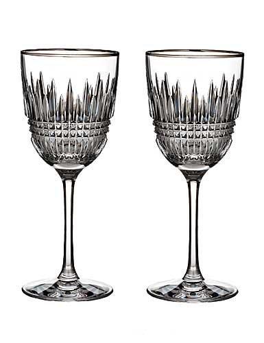 - WATERFORD LISMORE DIAMOND Red wine pair