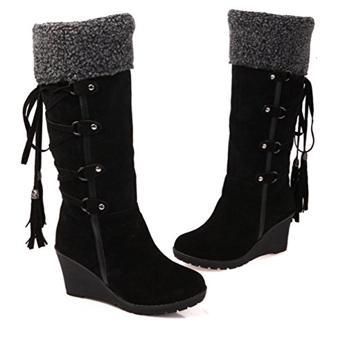 Warm Boot Winter Fur Outdoor Mid Stiefel Schuhes Wealsex Wealsex Schuhes Damenschuhe Tassles ... 7d3109
