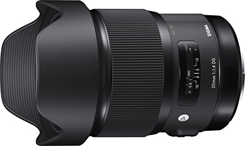 Sigma 412954 20mm F1.4 Art DG HSM Lens for Canon, Black