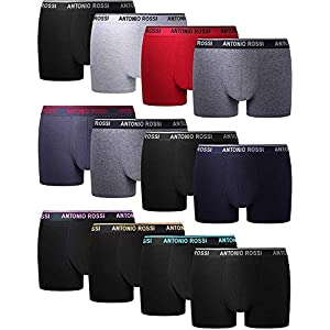 FM London Men's Fitted Boxer Hipster (Pack of 12)