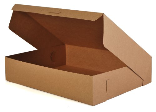 "Southern Champion Tray 1029K Kraft Non Window Bakery Box, 19"" Length x 14"" Width x 4"" Height (Case of 50)"